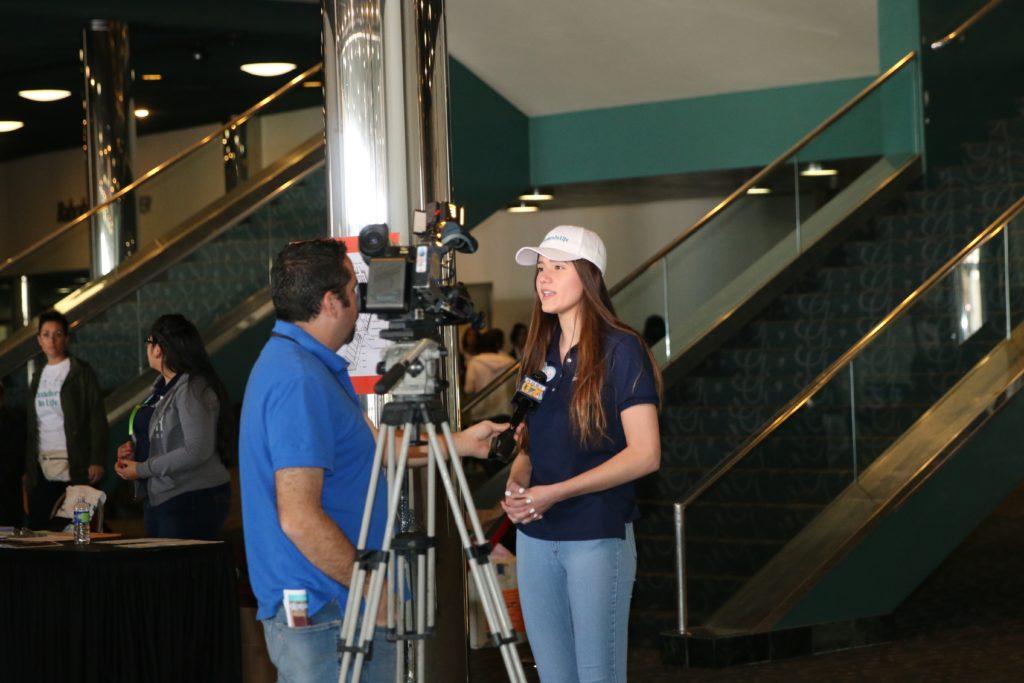 Women getting interviewed