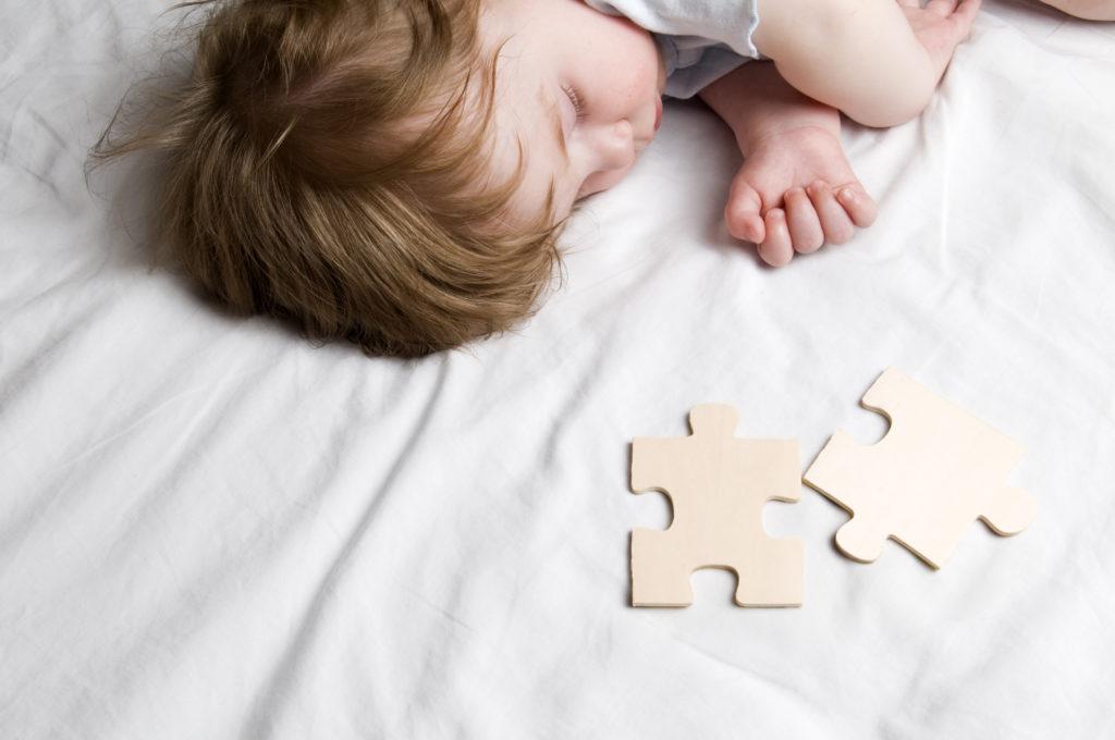 Baby Boy with Puzzle Pieces, Concept