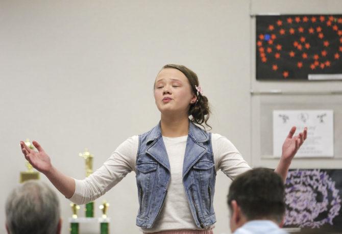 Girl @ Henry Graves Speech Contest