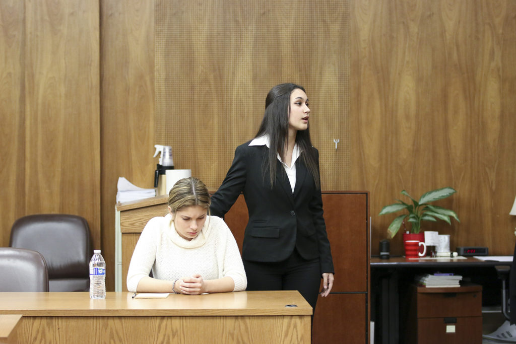 Team in trial during Mock Trial