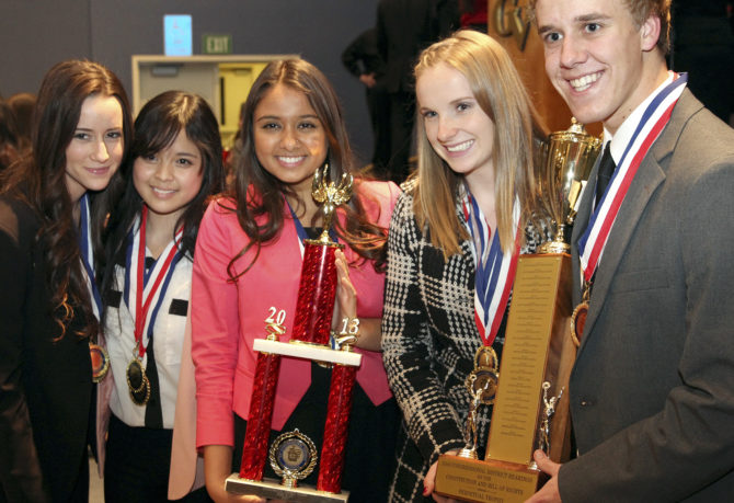 Winners of the We the People Congressional Hearings