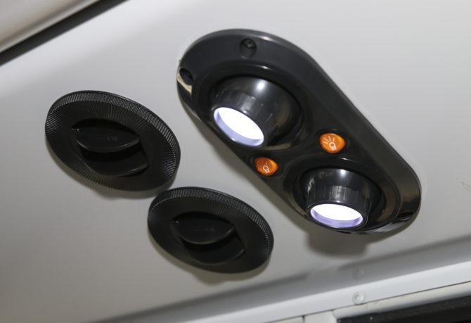 Air conditoning and lights inside KCSOS school bus